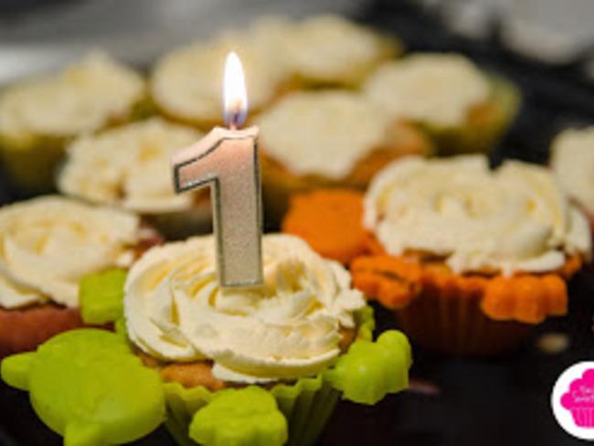 Cupcakes aux pommes sans œufs topping vanille
