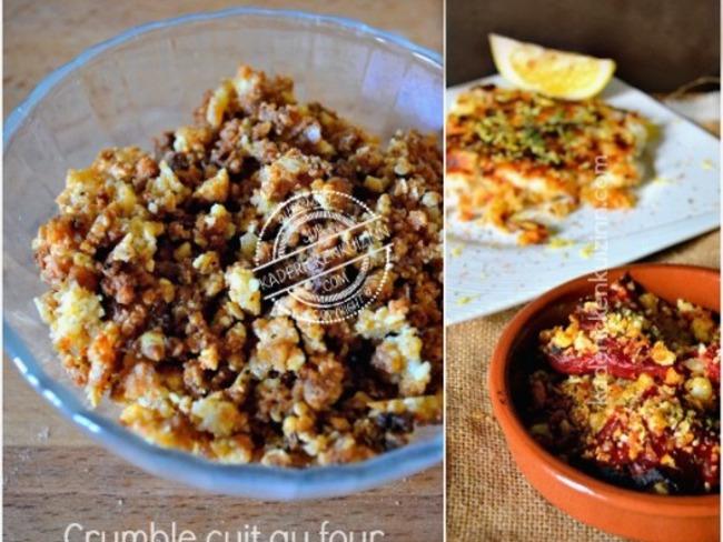 Crumble croustillant fromage pain et amande