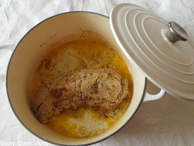 Filet mignon de porc à la moutarde ancienne