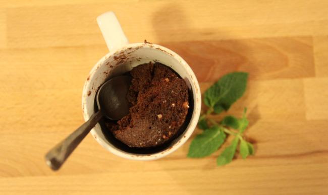 Mug cake chocolat