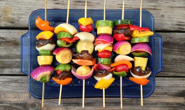 Idee Repas Barbecue.Brochettes De Gambas Au Miel