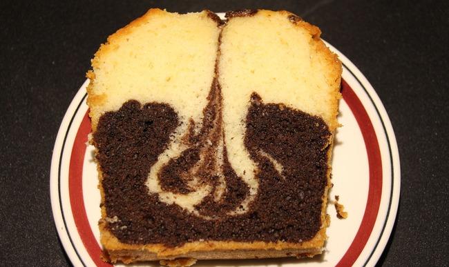 Tranche de gâteau marbré