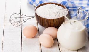 Ingrédients pour la pâte à crêpes