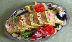 Terrine de poisson en tranches