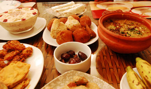 Repas du soir pendant le ramadan