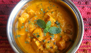 Curry dans un bol