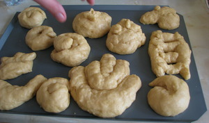 Challah dough pour Rosh Hashana