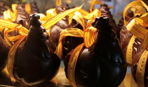Poules de Pâques en chocolat