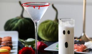 Cocktail d'halloween ensanglanté