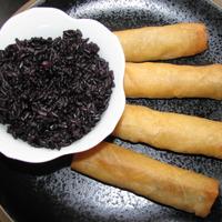 Riz noir et Nems