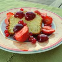 Gâteau au yaourt aux fruits rouges
