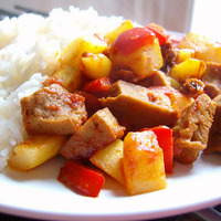 Curry de tomates et seitan
