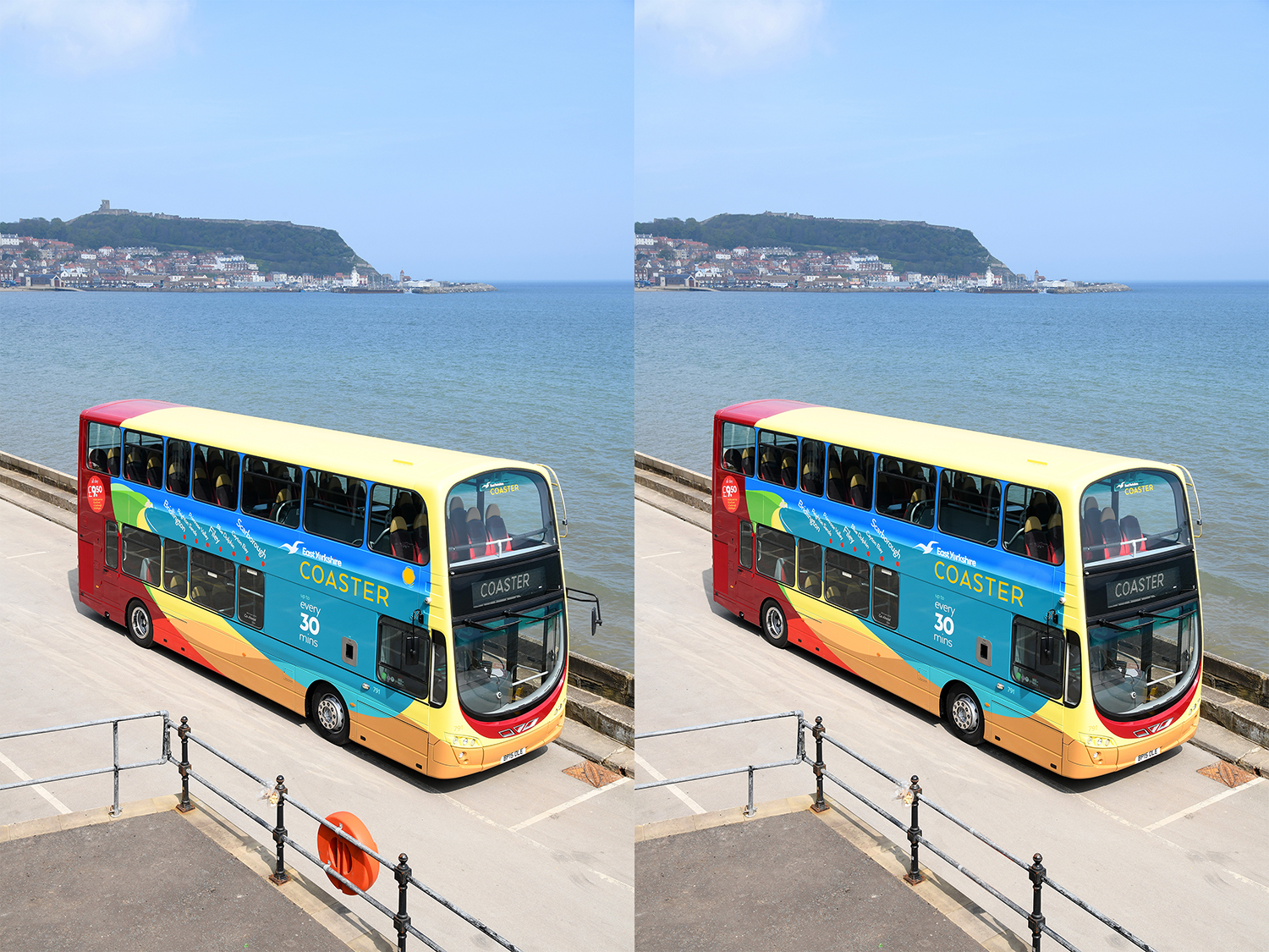 Spot the difference images, with two pictures showing 8 differences for people to spot