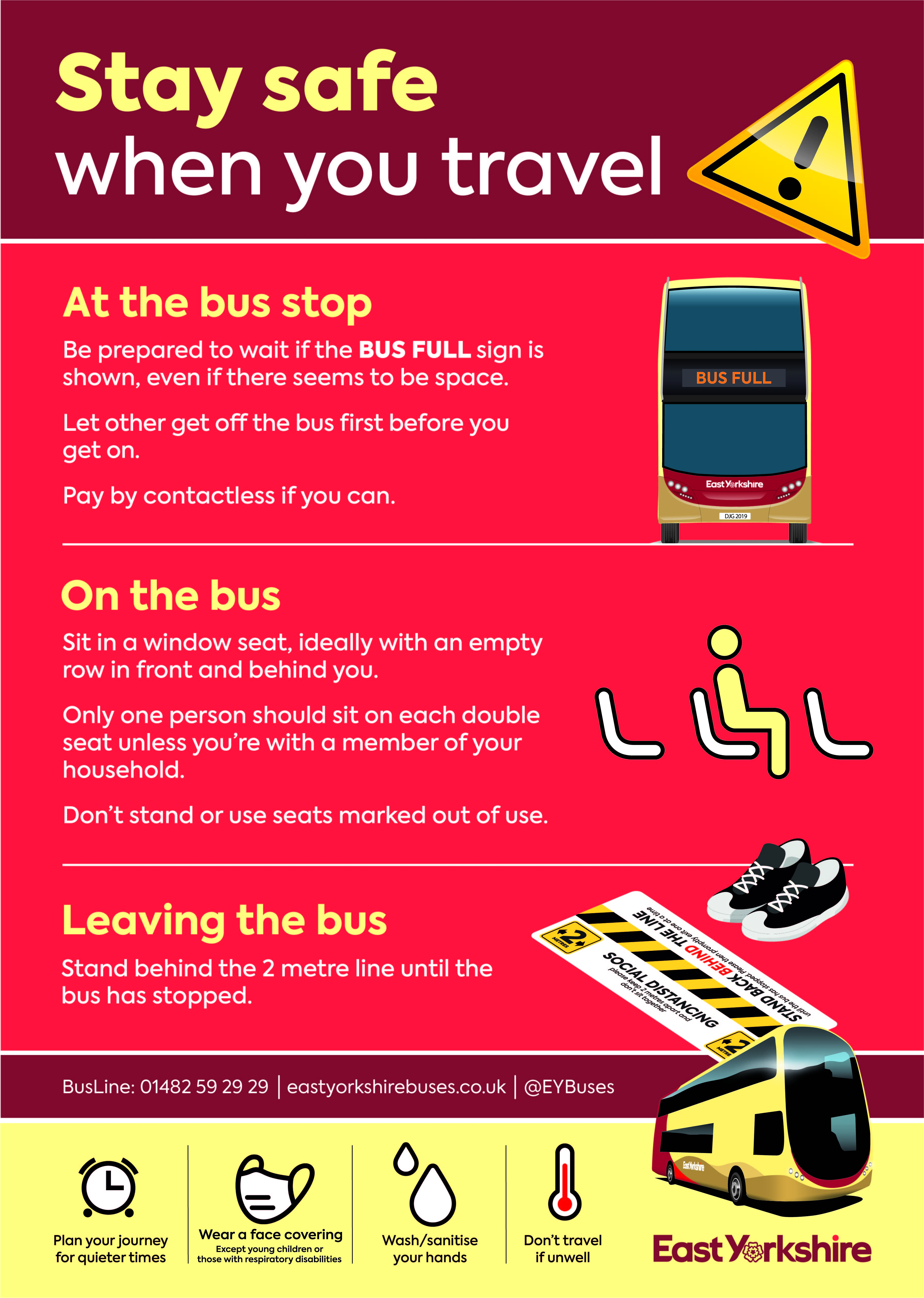 Stay safe on the bus