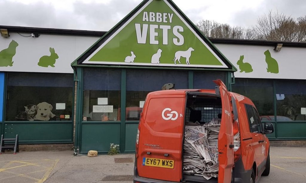 Go North East responding to an appeal from Abbey Vets in Sunderland