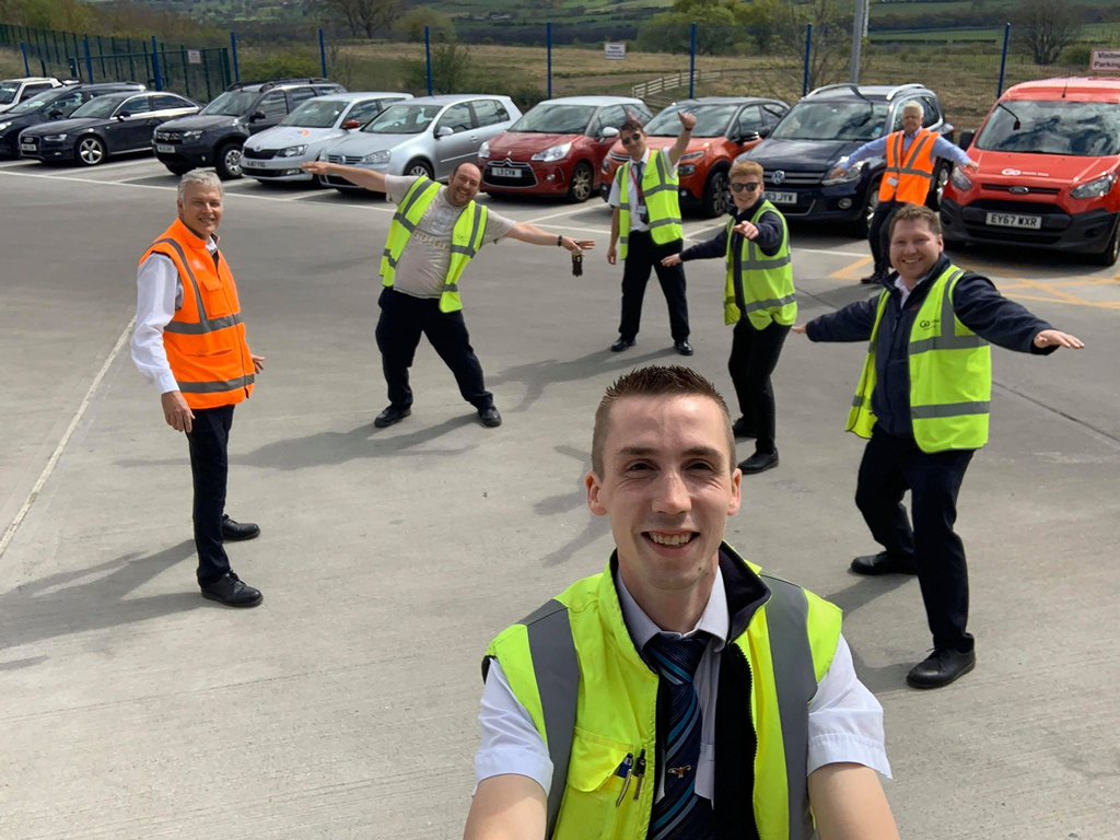 Team members at Go North East's Consett depot