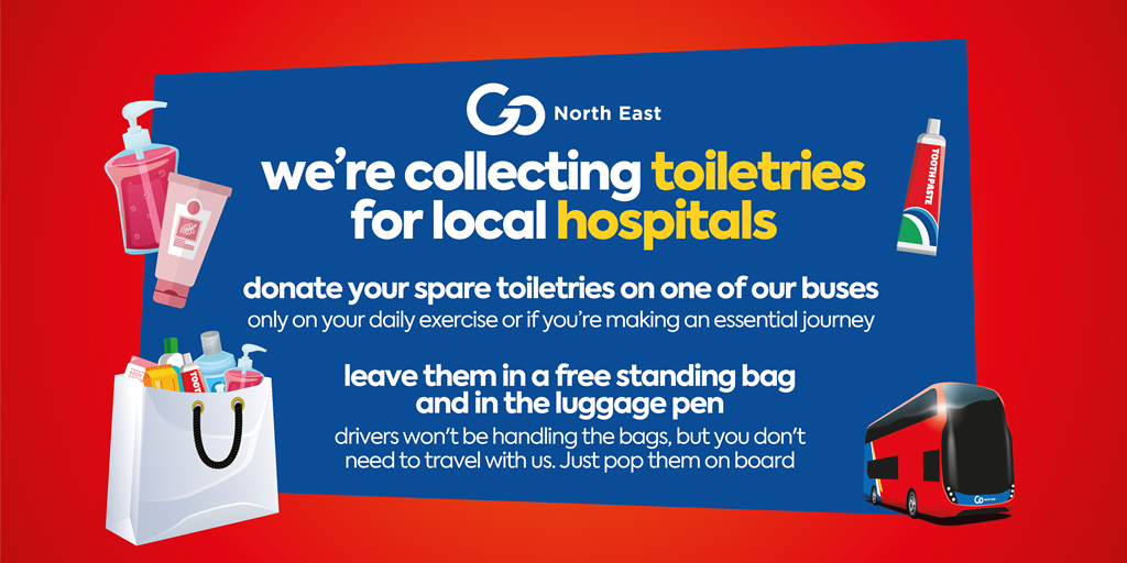 Toiletries for local hospitals and the NHS
