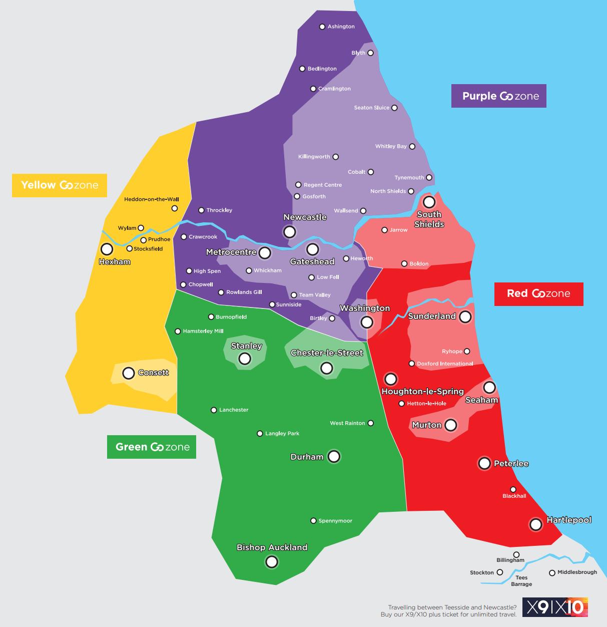 Go Zones map