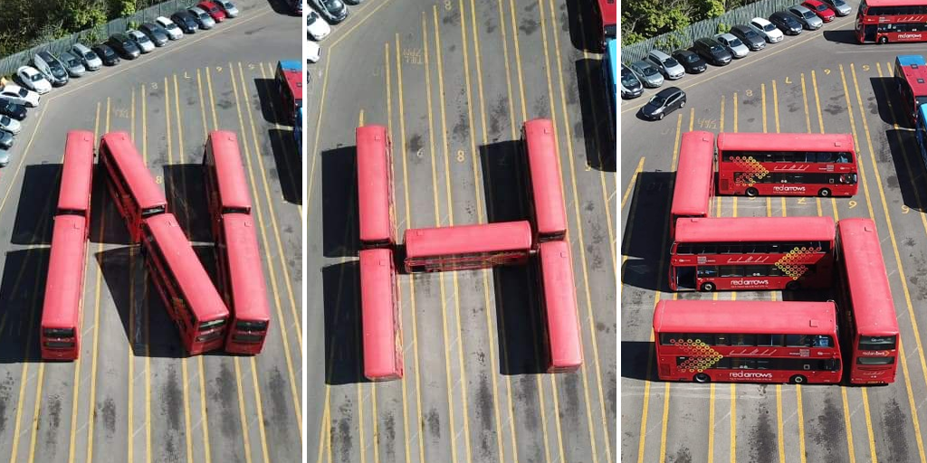 Buses lined up to spell NHS