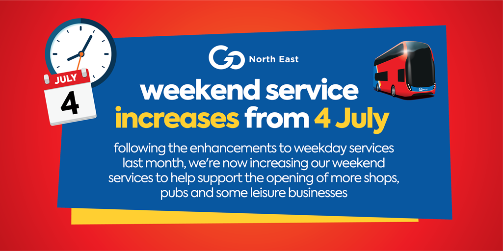 Service increases - 4 July