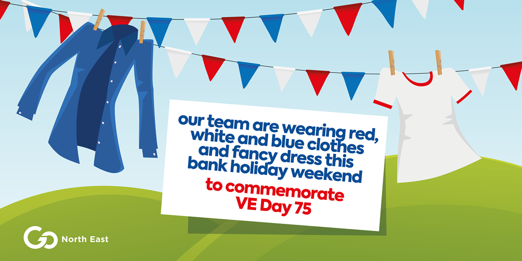 VE Day - colourful clothing