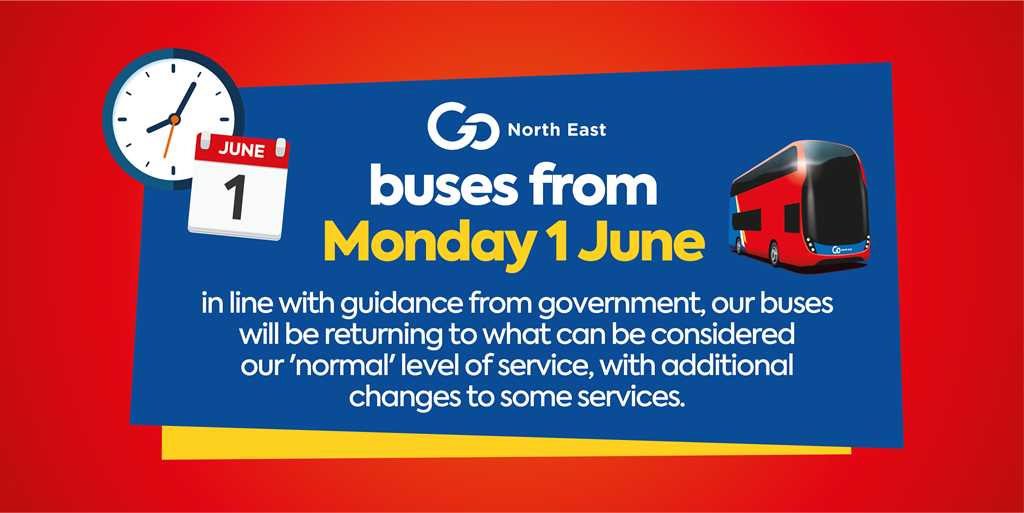 Buses from Monday 1 June