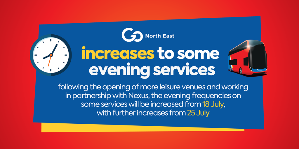 18 & 25 July service increases