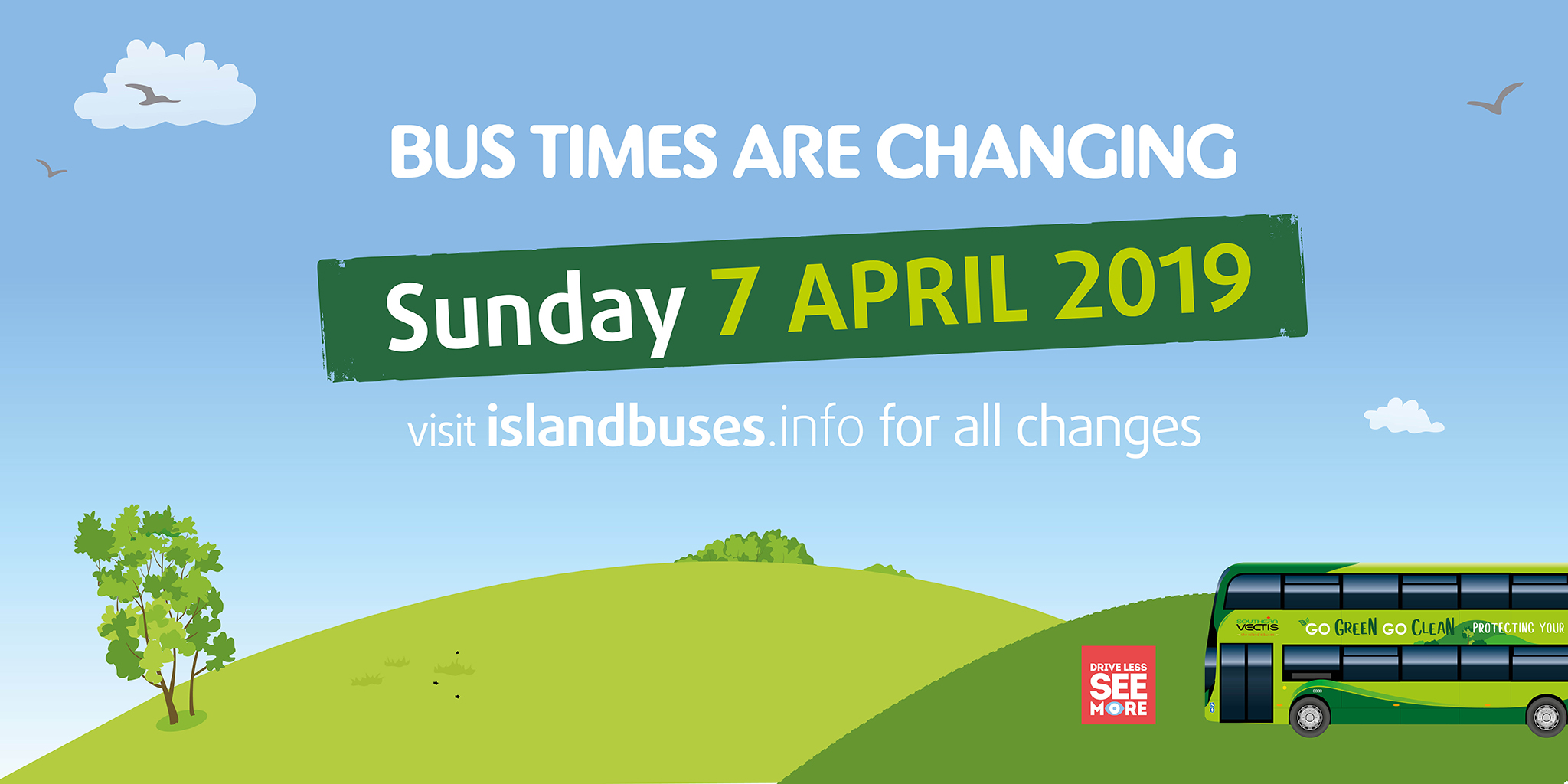 BUS TIMES ARE CHANGING
