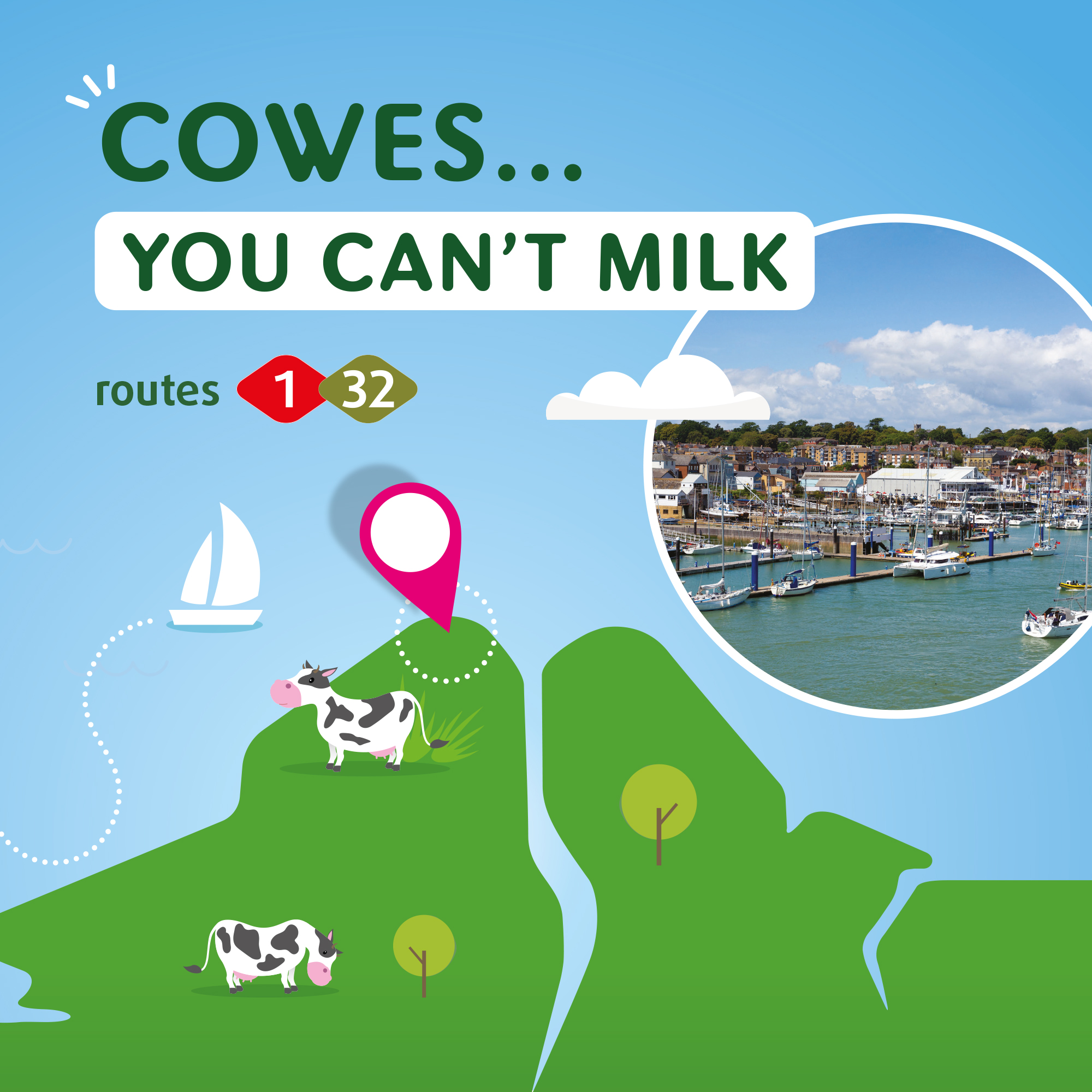 Illustration of Cowes you can't milk