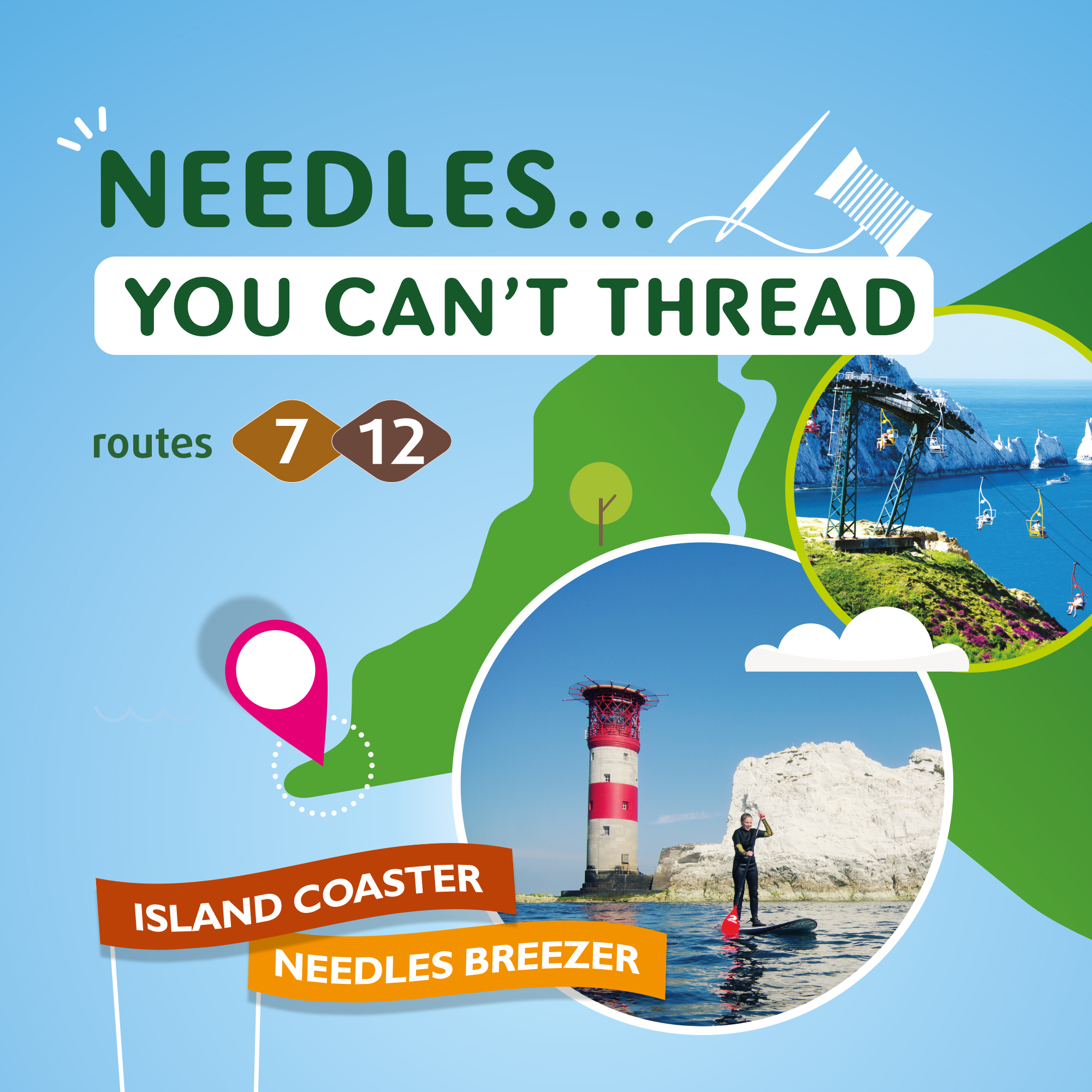 Illustration of needles you can't thread