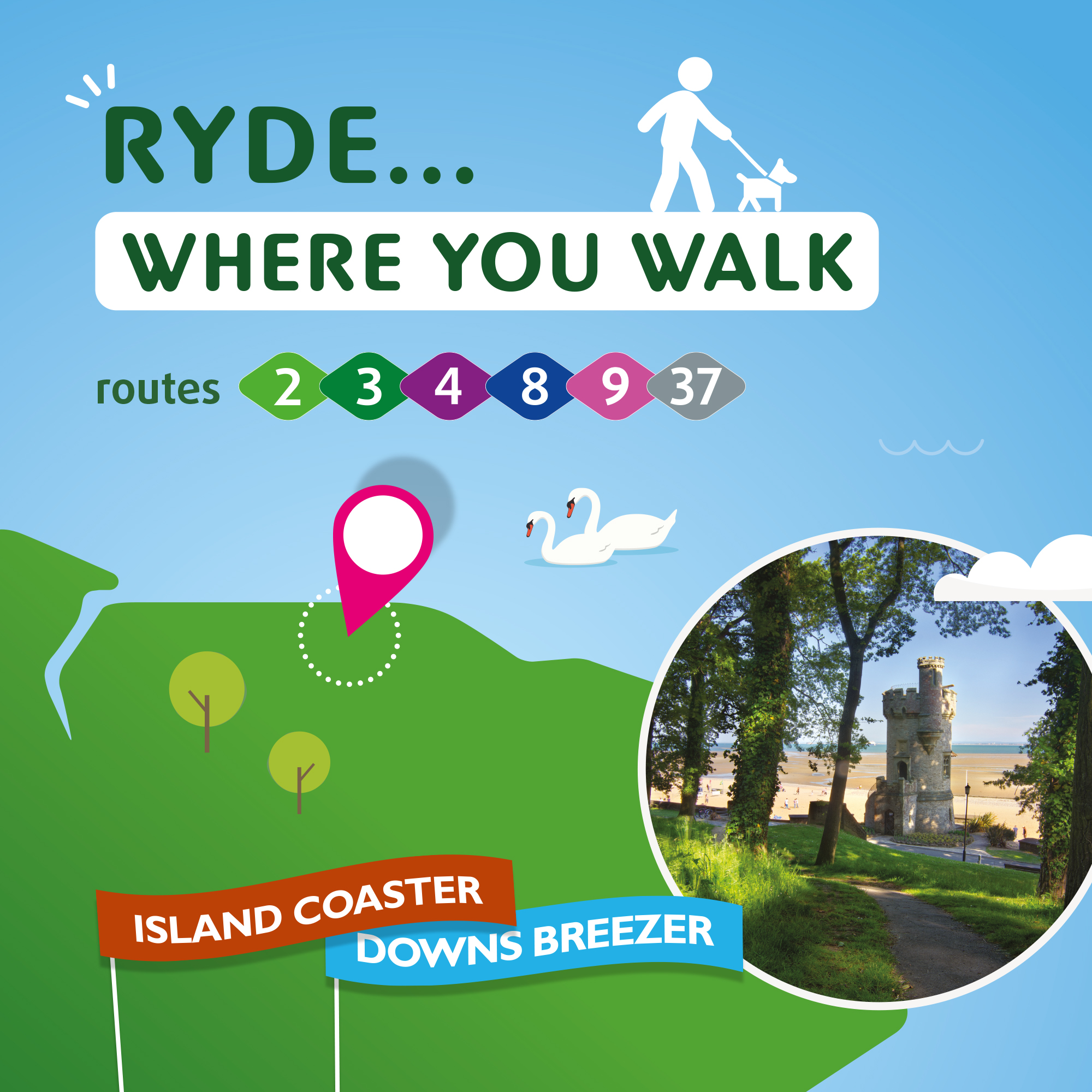 Illustration of Ryde where you can walk