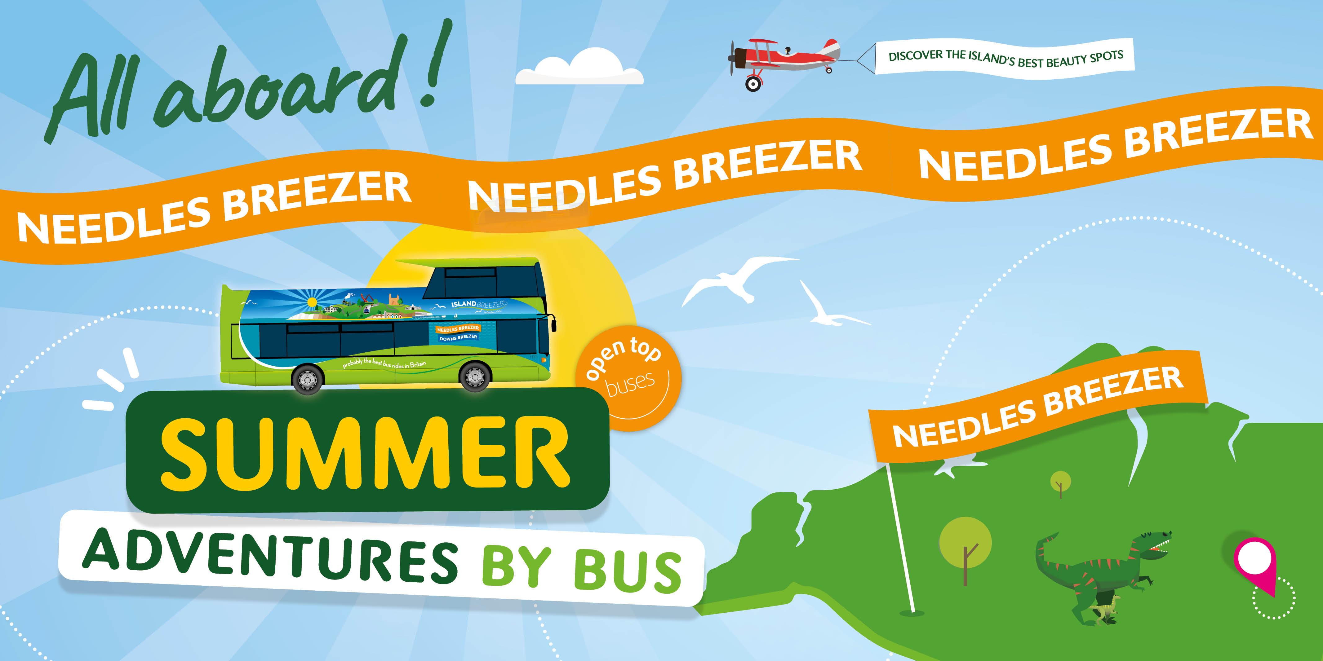 needles open top bus illustration