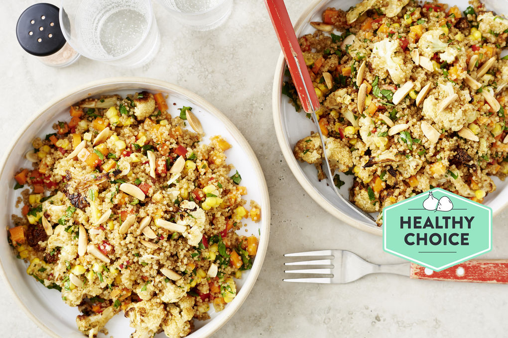Roasted Cauliflower And Quinoa Salad With Garlic Chilli Dressing Marley Spoon