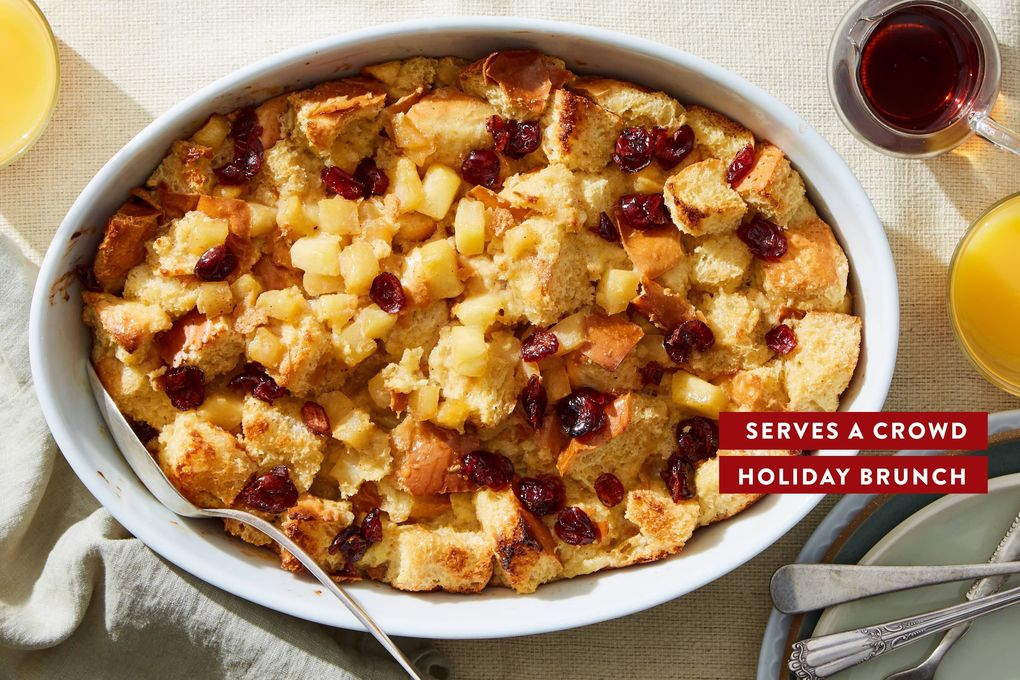 Baked Brioche French Toast With Caramelized Apple Cranberries Marley Spoon