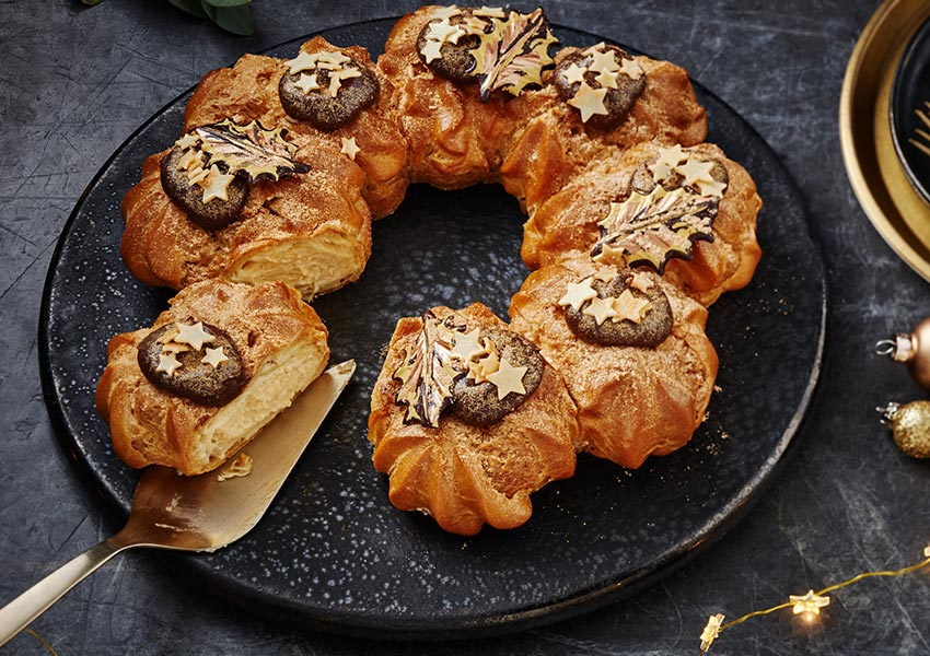 Taste The Difference Salted Caramel Choux Wreath