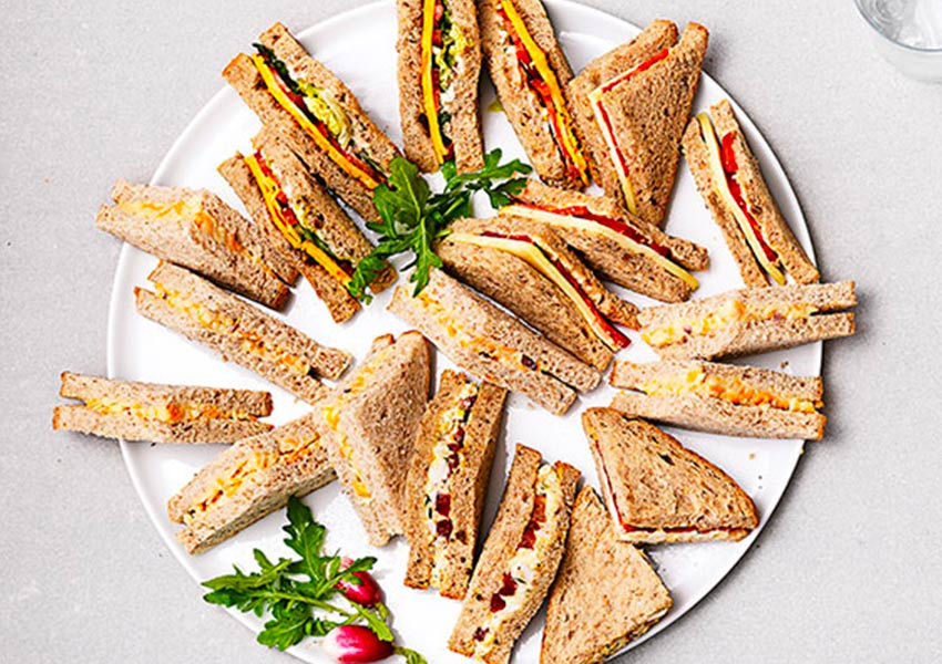Sainsbury party platters sandwiches