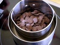 Tabler le chocolat noir au bain marie