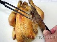 d couper un poulet r ti ou autre volaille technique culinaire d coupe du poulet. Black Bedroom Furniture Sets. Home Design Ideas
