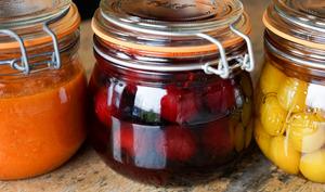 Coulis de tomates et poivrons