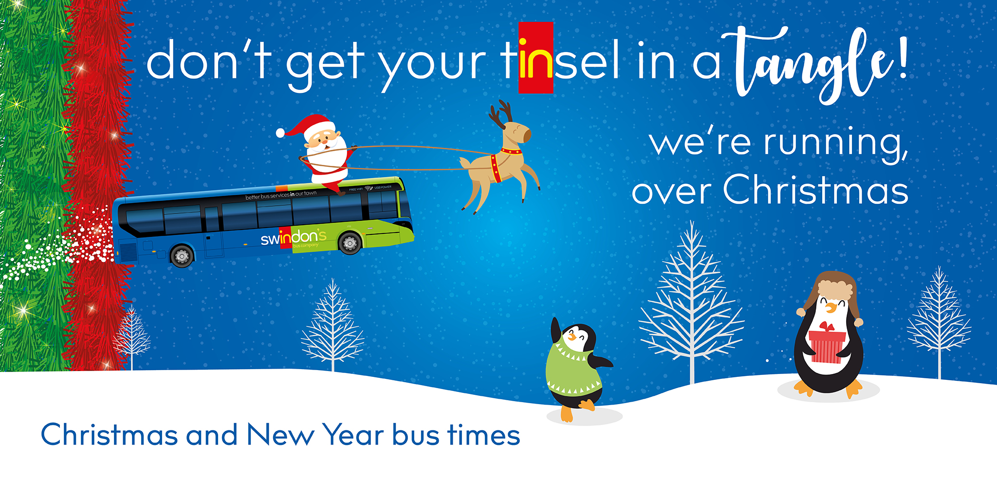 Swindon Christmas and New Year bus times