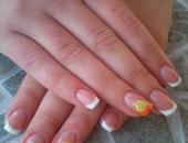 Modele unghii alb