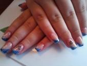 Modele unghii albastru