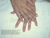 Modele unghii French in 2 culori + pictura manuala