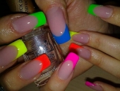model French multicolor neon