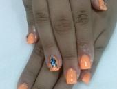 Modele unghii orange 2