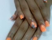 Modele unghii orange