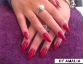 Modele unghii stiletto rosii