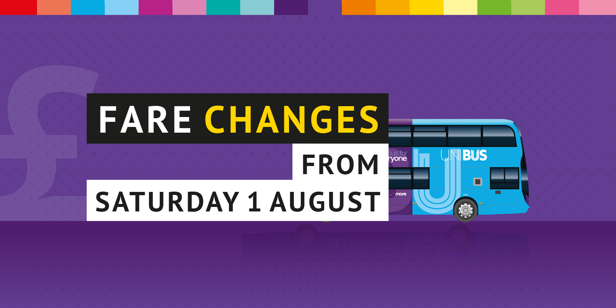 Image reading 'Fare changes from Saturday 1 August'