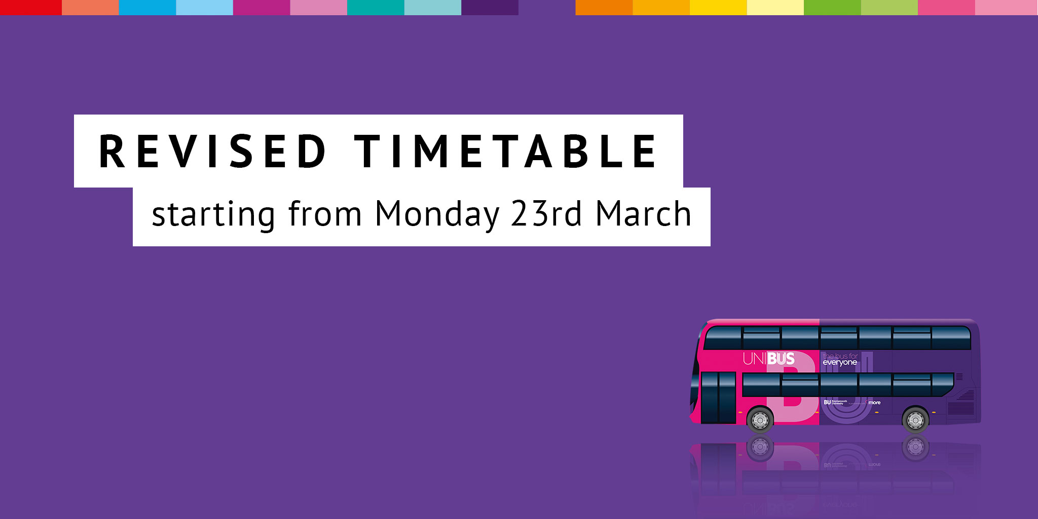 Image reading 'Revised timetable starting from Monday 23rd March'