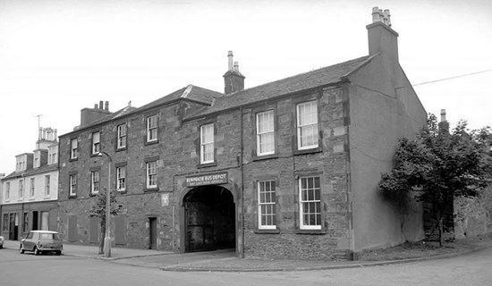 black and white photo of old building